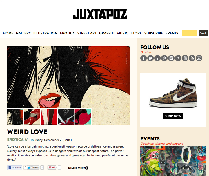 weird love juxtapoz