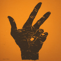 The Hand Of Miles Davis in Orange